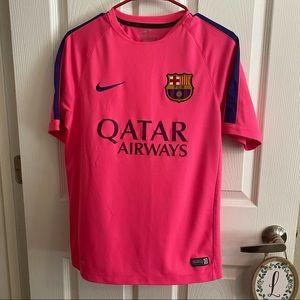 Nike Barcelona FC Pink Training Jersey 2014-2015